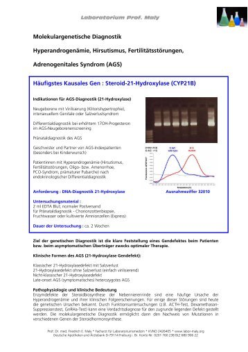 Adrenogenitales Syndrom - labor-maly.org