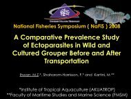A Comparative Prevalence Study of Ectoparasites ... - seafdec.org.my