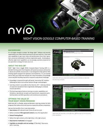 Night VisioN goggle Computer-Based traiNiNg - Night Flight Concepts