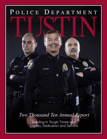 2010 Annual Report - Tustin Police Department