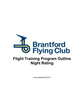 Flight Training Program Outline Night Rating - Brantford Flying Club