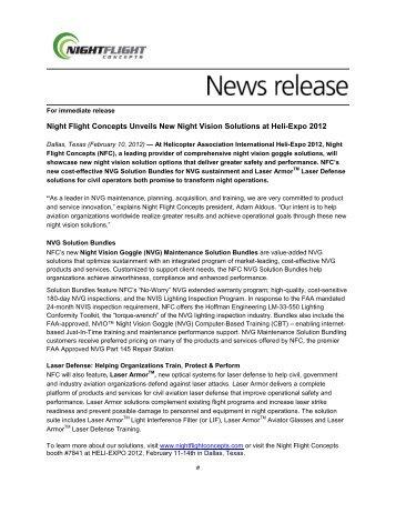 Industry Canada - Night Flight Concepts