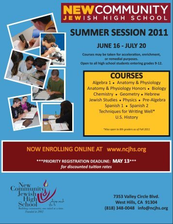 courses - New Community Jewish High School