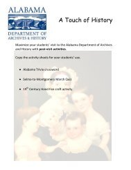 Post-Visit Activities - Alabama Department of Archives and History ...