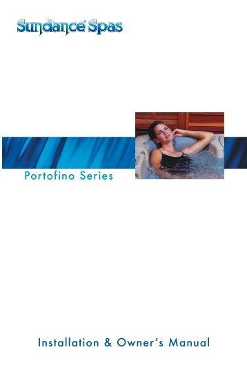 2002 Portofino Series Owners Manual - Sundance Spas