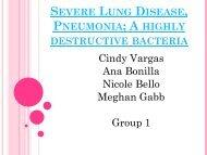 Severe Lung Disease, Pneumonia; A highly destructive bacteria