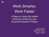 Work Smarter, Work Faster