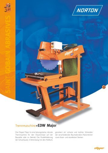Trennmaschine EDW Major - Norton Construction Products