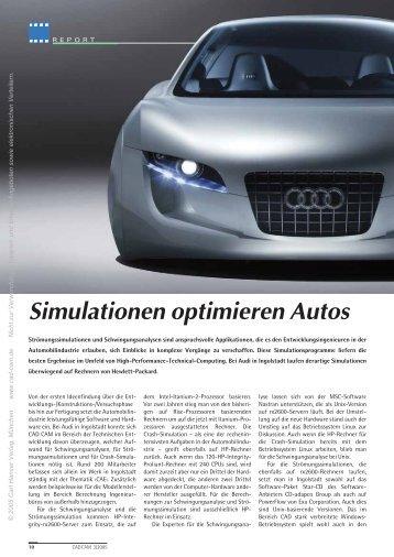 Simulationen optimieren Autos (260 KB) - Maschine + Werkzeug