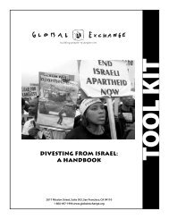 Divesting from Israel - Global Exchange