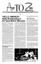 HELLO, AMERICA: Radio Broadcast in the Years Before Television