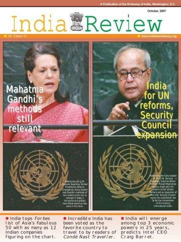 Mahatma Gandhi's methods still relevant India for ... - Embassy of India