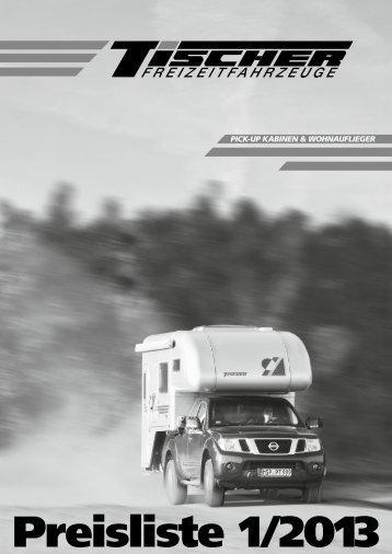 Tischer-Preisliste 1/2013 - Scheiber Reisemobile