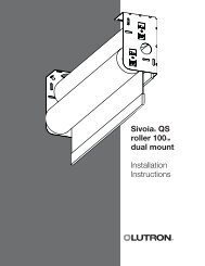 Sivoia® QS roller 100TM dual mount Installation Instructions - Lutron
