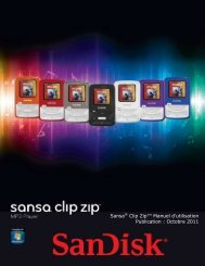 Table des matières - SanDisk