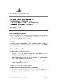 EXPLANATORY MEMORANDUM TO PROFESSIONAL STANDARD ...