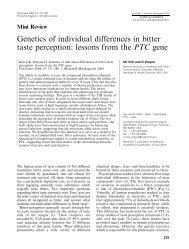 Genetics of individual differences in bitter taste perception: lessons ...