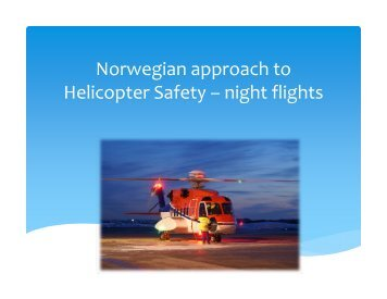 Offshore helicopter – accidents and activity