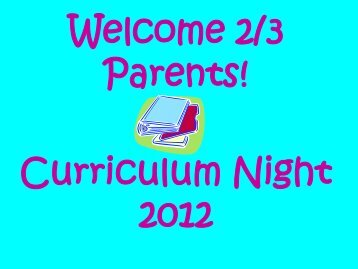 Curriculum Night Presentation - Lincoln Prairie School
