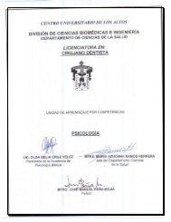 Psicología - Centro Universitario de los Altos