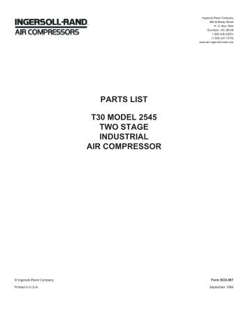 ingersoll rand model 2545 parts manual