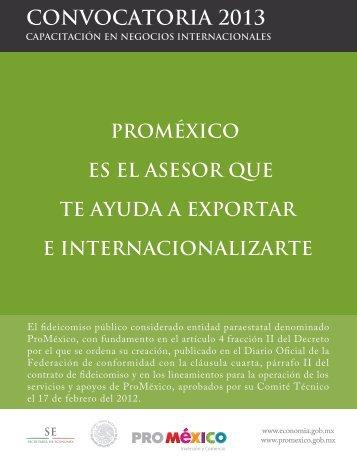 Proyectos de Capacitación en Negocios ... - ProMéxico