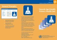 Towards Age-friendly Primary Health Care General ... - libdoc.who.int