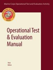 MCOTEA Operational Test and Evaluation Manual - Headquarters ...