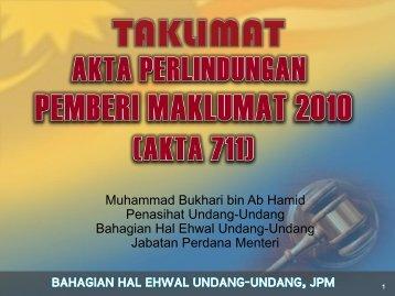 Akta Perlindungan Pemberi Maklumat 2010