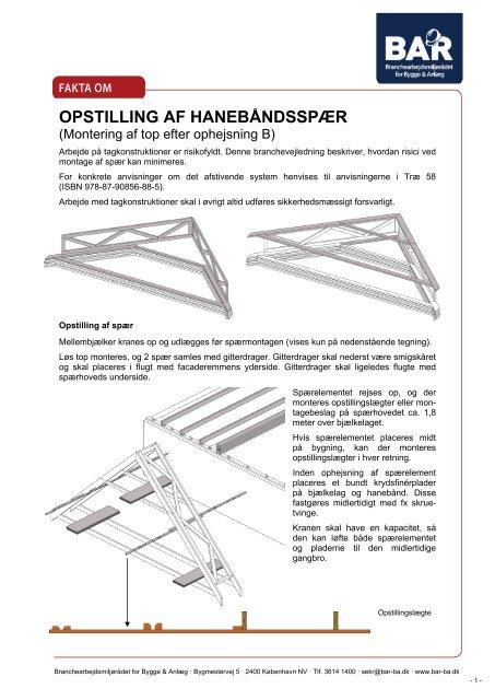 OPSTILLING AF HANEBÅNDSSPÆR - Roust Spær A/S