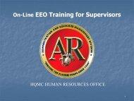 On-Line EEO Training for Supervisors - Headquarters Marine Corps