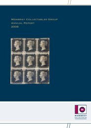 Mowbray Collectables Group Annual Report 2008