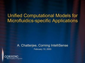 Unified Computational Models for Microfluidics-specific ... - Intellisense