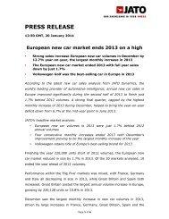 European new car market ends 2013 on a high