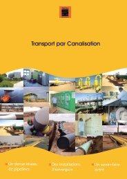Transport par Canalisation - Ministère de l'énergie et des mines