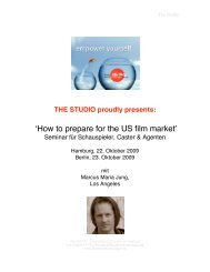 'How to prepare for the US film market' - marketing-fuer-schauspieler