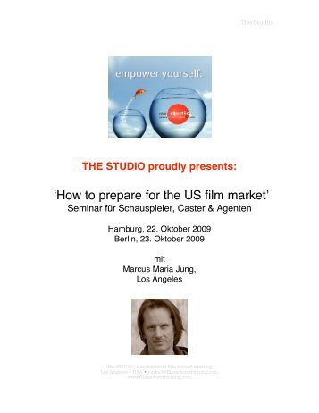 'How to prepare for the US film market' - marketing-fuer-schauspieler