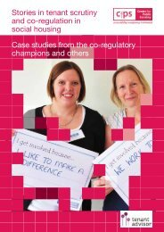 Stories in tenant scrutiny and co-regulation - Centre for Public Scrutiny