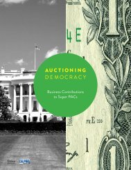 Appendix Data: Auctioning Democracy - CalPIRG