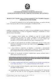 universidade federal do rio grande do sul comissão de ... - UFRGS