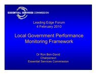 Local Government Performance Monitoring Framework - Victorian ...
