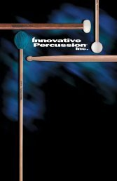Innovative Percussion - Music Media
