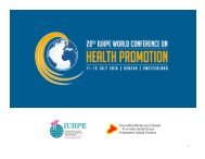 20 th IUHPE World Conference on Health Promotion, summary