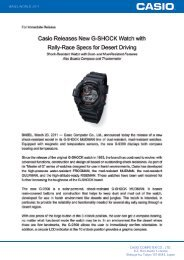 Casio Releases New G-SHOCK Watch with Rally-Race Specs for ...