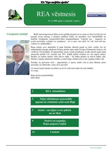 REA Vēstnesis Nr.5 - Rīgas enerģētikas aģentūra
