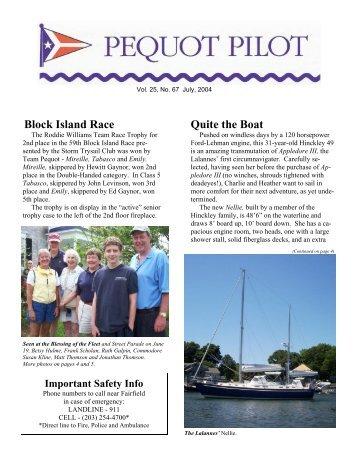 Block Island Race Quite the Boat - Pequot Yacht Club