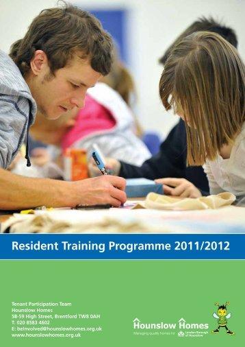 Resident Training Programme 2011/2012 - Hounslow Homes