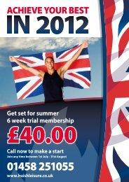 Get set for summer 6 week trial membership - Zing Somerset