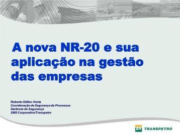 A nova NR-20 e sua aplicação na gestão das ... - Trabalho e Vida