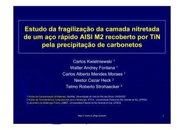 Estudo da fragilização da camada nitretada de um aço ... - Ufrgs